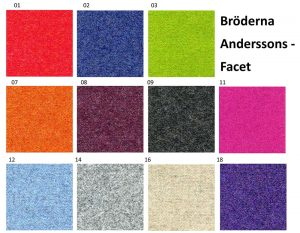 Facet tygprov Br Anderssons
