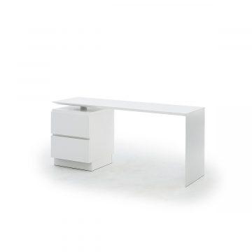 Slimmidesk L skrivbord med hurts vit från Muurame