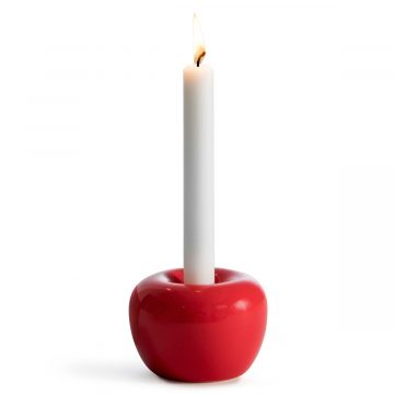 Röd stor ljusstake äpple