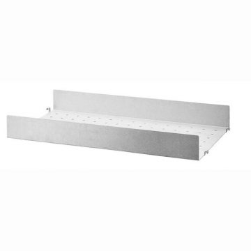 Metallhyllplan galvaniserad med hög kant