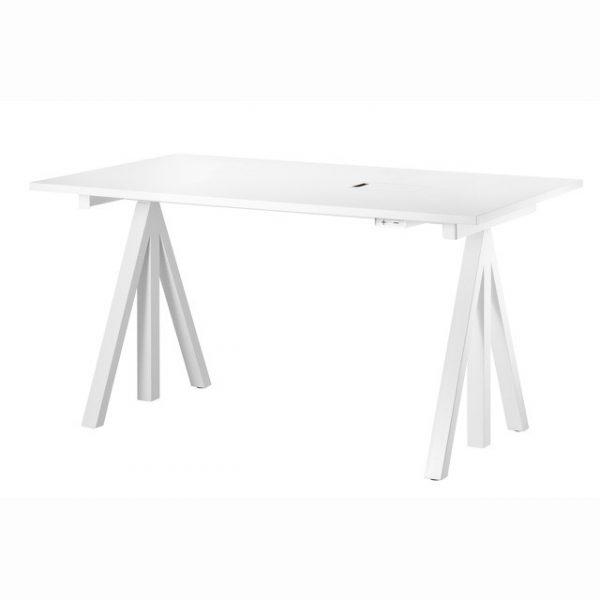 String vitt höj och sänkbart skrivbord 140x78