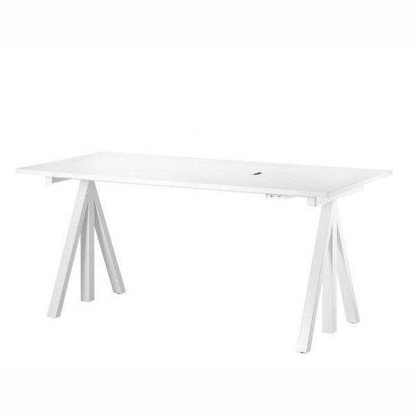 String Vitt höj och sänkbart skrivbord 160x78