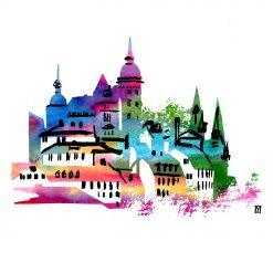 Colours fine art print