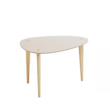Buff soffbord med äggformad skiva