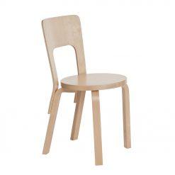 Artek Stol Chair 66 Klarlackad björkfanér