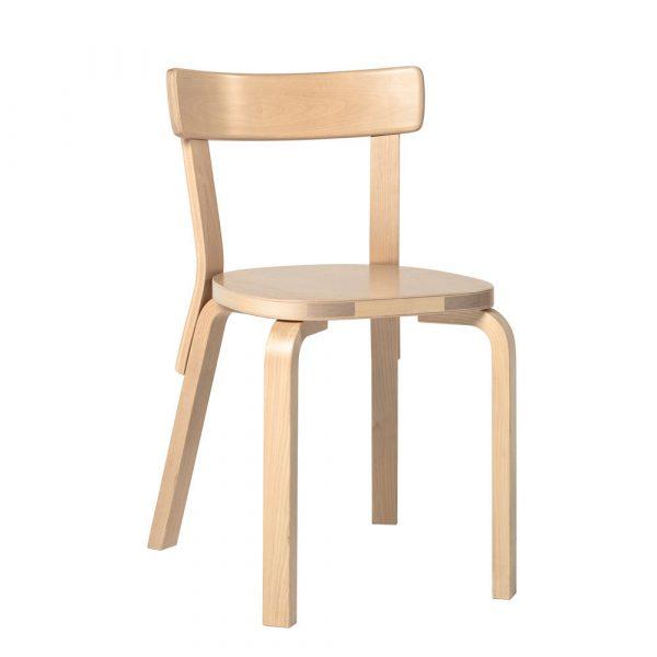 Artek Stol Chair 69 klarlackad björkfanér