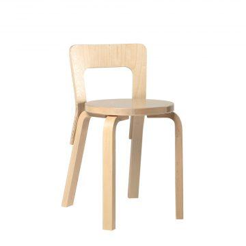 Artek Stol Chair 65 klarlackad Björkfanér