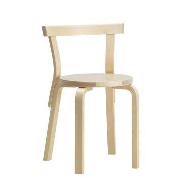 Artek Stol Chair 68 Klarlackad Björkfanér