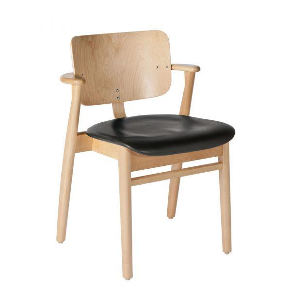 Artek Karmstol Domus Chair klarlackad björk klädd sits