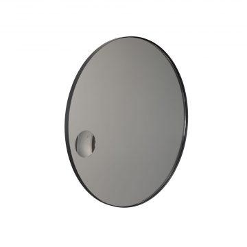 FROST Spegel med smal ram Svart